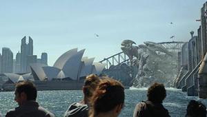 Un Kaiju destrozando Sidney